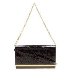 Louis Vuitton Amarante Monogram Vernis Ana Clutch