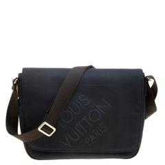 Louis Vuitton Blue/Dark Brown Damier Canvas Geant Messenger Bag