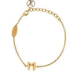 Louis Vuitton Essential M Gold Tone Bracelet