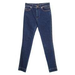 Louis Vuitton Indigo Dark Wash Denim Skinny Jeans S
