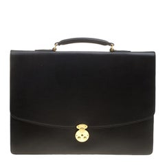 Montblanc Black Leather Briefcase