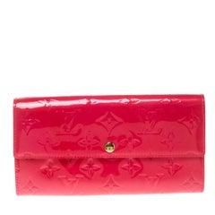 Louis Vuitton Rose Pop Monogram Vernis Sarah Wallet