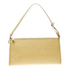 Louis Vuitton Yellow Epi Leather Pochette Accessories