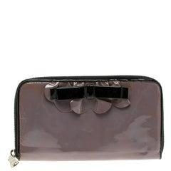 Miu Miu Lilac Patent Leather Zip Around Wallet