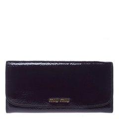 Miu Miu Purple Patent Leather Continental Wallet