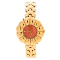 Nina Ricci Red Gold Tone SM 983 Women's Wristwatch 25 MM