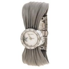 Nina Ricci Silver White Stainless Steel and Diamonds N021.12 Women's Wristwatch