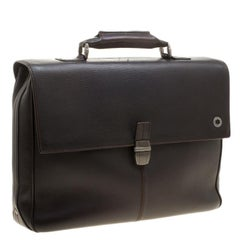 Montblanc Dark Brown Leather Briefcase