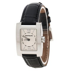 70fba87a153 Montblanc Silver White Stainless Steel Profile 7047 Women s Wristwatch 23 mm