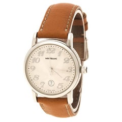 Montblanc White Stainless Steel Meisterstuck Women's Wristwatch 32 mm