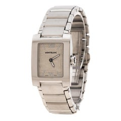 Montblanc White Stainless Steel Profile 7047 Women's Wristwatch 23 mm