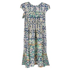 Peter Pilotto Multicolor Abstract Print Washed Silk Kali Dress M