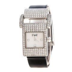 7c5a5b3be3a Piaget White Mother Of Pearl Diamond 18k White Gold Miss Protocol 5225  Women s W