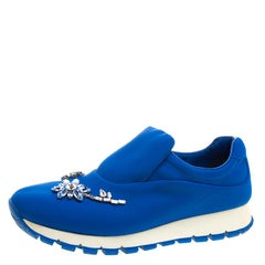 Prada For Harrods Blue Nylon Limited Edition Catch Me If You Can Crystal