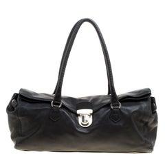 Prada Black Soft Leather Satchel