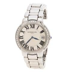 Raymond Weil Silver Jasmine 5235 Stainless Steel Women's Wristwatch 35 mm