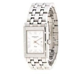 Raymond Weil Silver White Stainless Steel Tango 5380 Men's Wristwatch 27 mm
