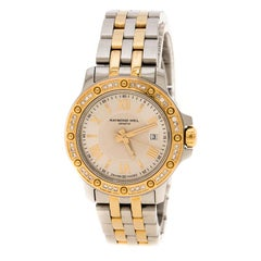 Raymond Weil Silver White Two Tone Gold Plated Stainless Steel Tango 5399 Women'