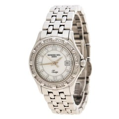 Raymond Weil White Mother of Pearl Stainless Steel Diamond Tango 5390 Women's Wr