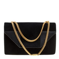 Saint Laurent Black Suede Small Betty Shoulder Bag