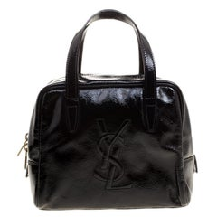 Saint Laurent Black Patent Leather Satchel