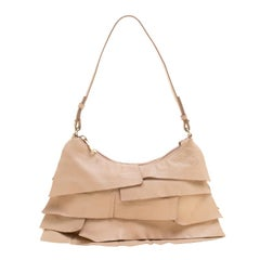 Saint Laurent Beige Leather St.Tropez Shoulder Bag