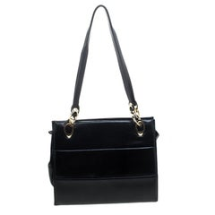 Salvatore Ferragamo Black Leather Tote