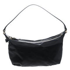 Salvatore Ferragamo Black Nylon Hobo