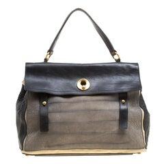 Saint Laurent Tri Color Leather Large Muse Two Bag