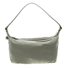 Salvatore Ferragamo Light Green Nylon Hobo