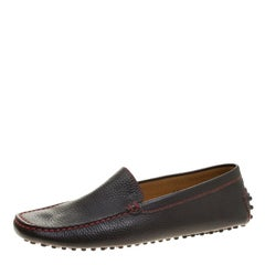 Tod's for Ferrari Black Leather Moccasins Size 39.5