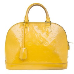 Louis Vuitton Gelb Vernis Monogramm Alma PM