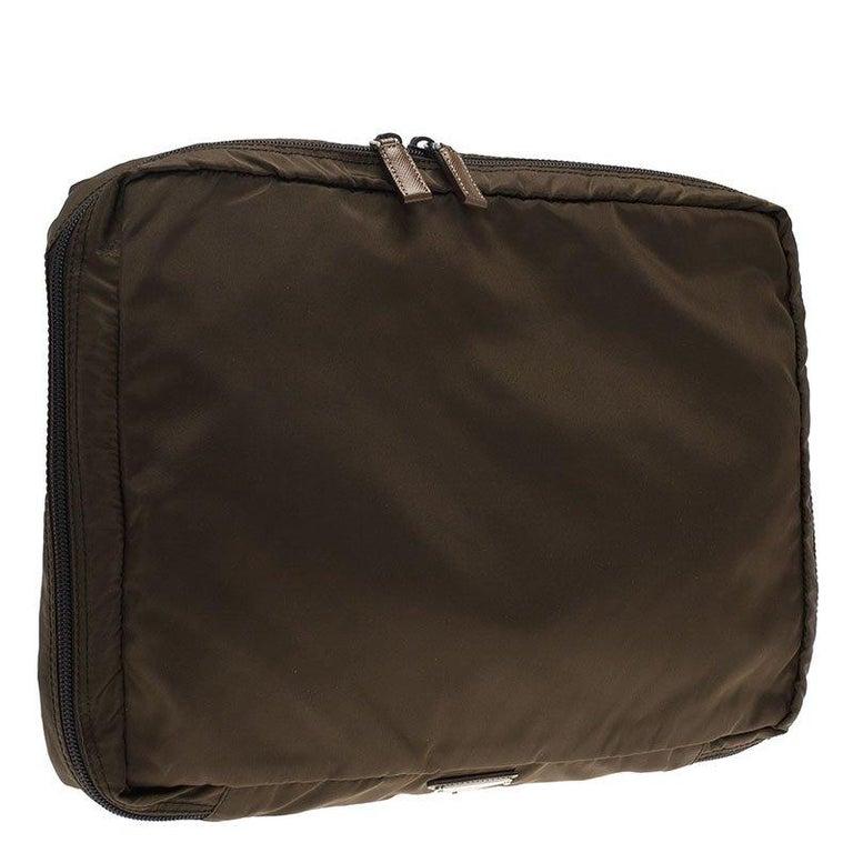 Prada Brown Nylon Laptop Case For Sale at 1stdibs 0e1e75d35c