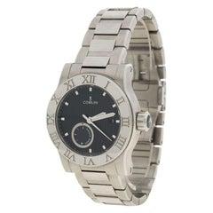 Corum Black Stainless Steel Romvlvs Power Reserve Men's Wristwatch 42MM