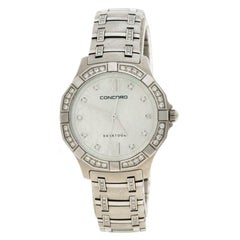 Concord Mother of Pearl Diamond & Stainless Steel Saratoga Women's Wristwatch 31