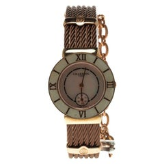Charriol Mother of Pearl Rose Gold Tone Stainless Steel St-Tropez Women's Wristw