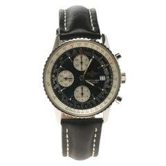 Breitling Black Stainless Steel Old Navitimer A13322 Chronometer Men's Wristwatc