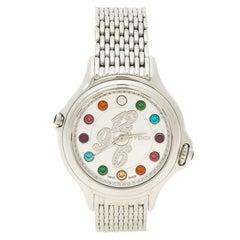 Fendi Silver Stainless Steel Crazy Carats Women's Wristwatch 38mm