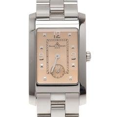 Baume & Mercier Champagne Stainless Steel Hampton Men's Wristwatch 24MM