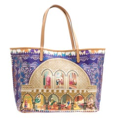 Etro Multicolor Printed Coated Canvas Shopping Tote