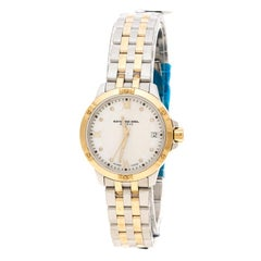 Raymond Weil White Mother of Pearl Two-Tone Stainless Steel Tango 5960 Women's W