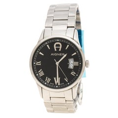 Aigner Black Stainless Steel Modica A32752 Men's Wristwatch 40 mm