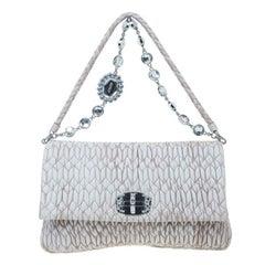 Miu Miu Cameo Nappa Crystal Shoulder Bag