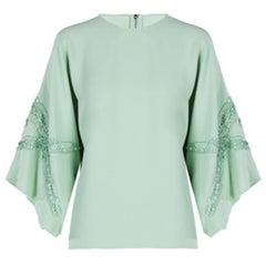 Elie Saab Mint Wide-Sleeved Top M