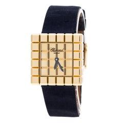 Chopard Gold Dial 18K Gold Ice Cube by De Grisogono Women's Wristwatch 25 mm