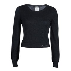 Chanel Grey Cashmere Sweater M