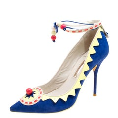 Sophia Webster Multicolor Suede and Leather Remmie Pumps Size 40