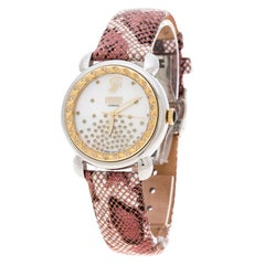 Gianfranco Ferre White Mother of Pearl Gold Plated Stainless Steel 2145L-K Women