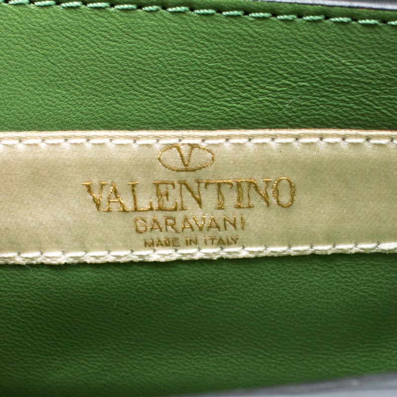 5f90516de59d7 Valentino Green/Multicolor Print Leather Micro B Rockstud Shoulder Bag For  Sale at 1stdibs