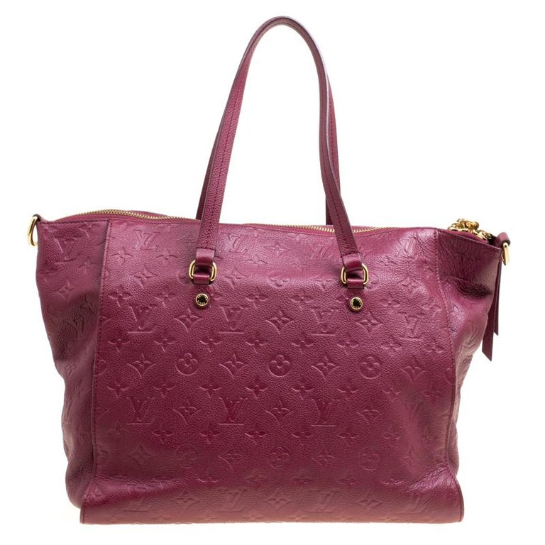 Louis Vuitton Aurore Monogram Empreinte Leather Lumineuse PM Bag For Sale 3